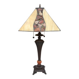 Arts & Crafts Riverstone Bronze Lamp