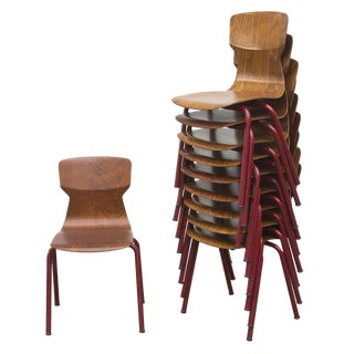 Bent Plywood Stacking School Chair Set Of 10