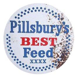 1950s Vintage Pillsbury's Best Metal Feed Sign