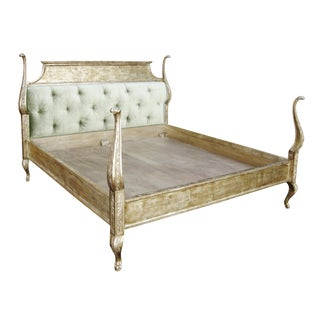 Carved Italian Venetian Bed by Randy Esada Designs
