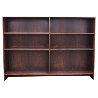 Chestnut Brown Rosewood Bookcase with Platform Base