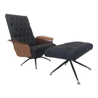 George Mulhauser Lounge Chair & Ottoman for Plycraft
