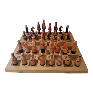 Vintage Hand Painted Chess Set