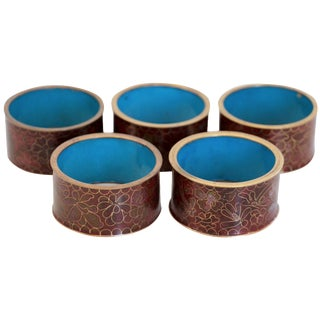 Cloisonne Napkin Rings - Set of 5