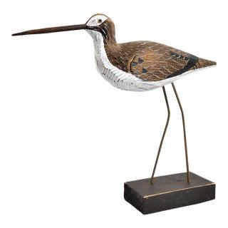 Hand Crafted Wooden Bird Sculpture