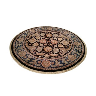 Traditional Round Knotted Rug - 8′ × 8′