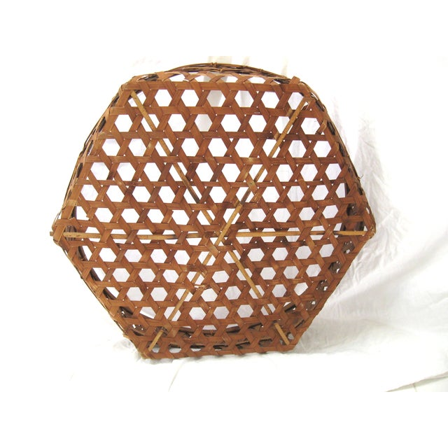 Large Round Asian Basket - Image 3 of 7