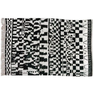 Black & White Moroccan Rug - 7′11″ × 9′6″