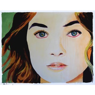 "Gretchen (Girl With Grey Eyes) Painting - 46"" x 36"""