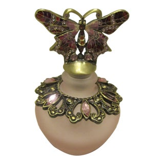 Pink Bejeweled Perfume Bottle