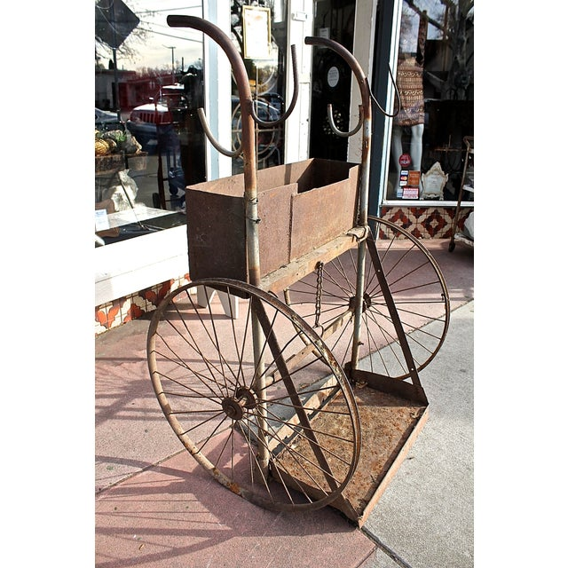 1930s Rusty Iron Welded Bar Cart - Image 6 of 7
