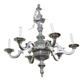 Edwardian Style Chrome Chandelier
