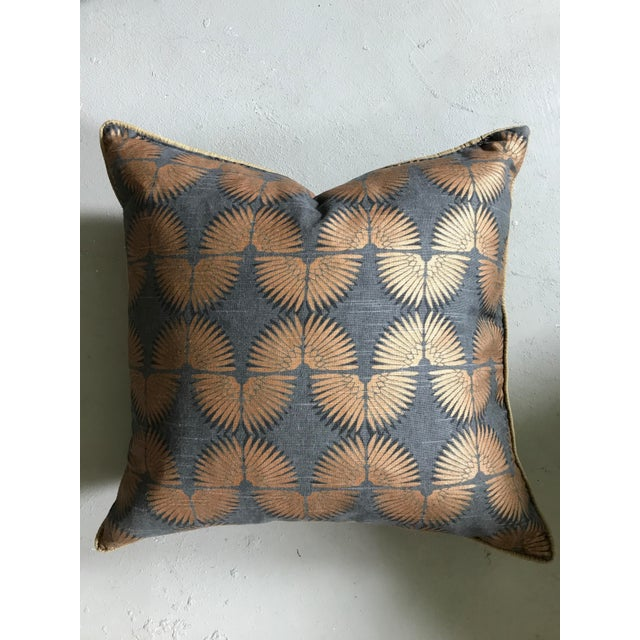 Gray & Copper Art Deco Pillow - Image 2 of 5