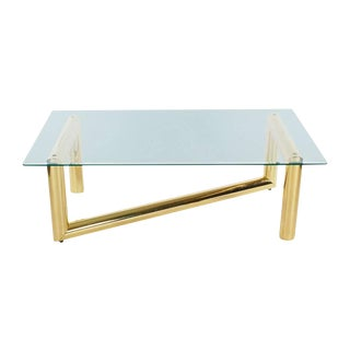 Pace Style Brass Tubular Coffee Table