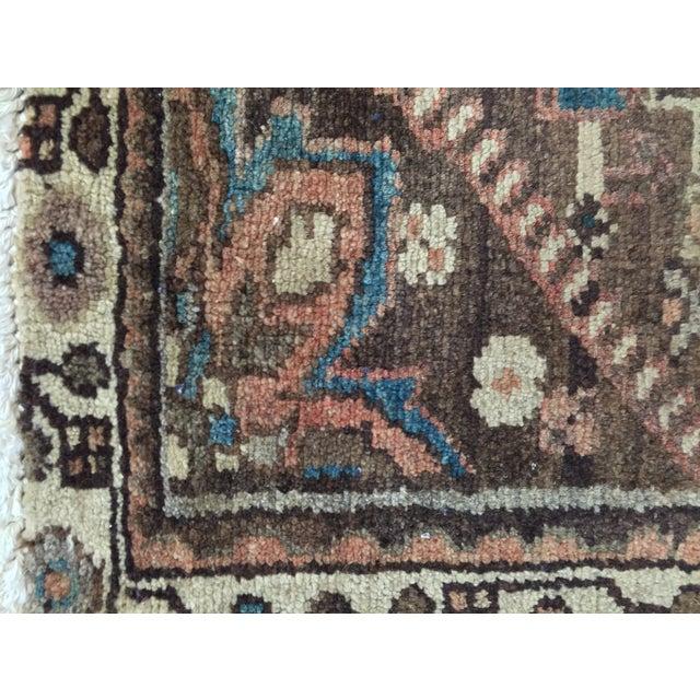 Vintage Hamadan Persian Rug - 1′11″ × 2′11″ - Image 8 of 9