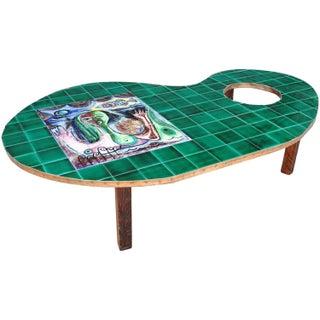 Painter's Palette Tile-Top Coffee Table