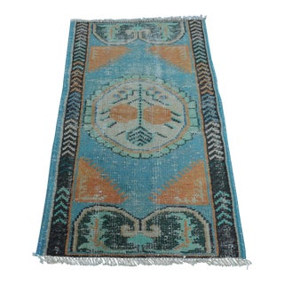 Vintage Turkish Handmade Tribal Rug - 2′7″ × 4′5″