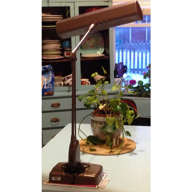 Dazor Floating Fixture Midcentury Lamp - Image 9 of 11