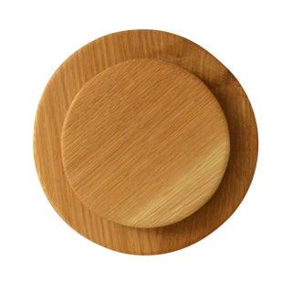 Circular Oak Trivet - A Pair