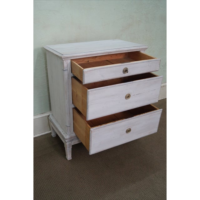 Image of Antique Swedish Pine Distressed Commode Chest