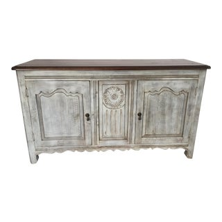 Light Grey & Brown Wooden Media Console