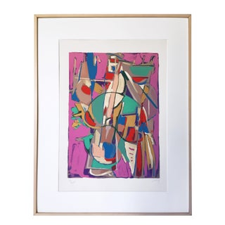 Signed Vintage Abstract Serigraph by Andre Lanskoy