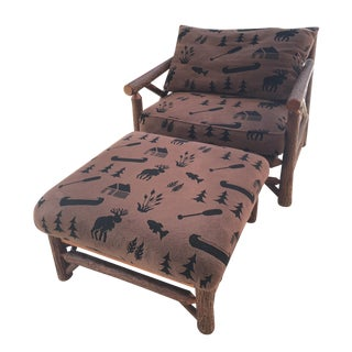 Adirondack Big Ranch Chair & Ottoman Set