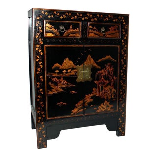 Small Black Painted Cabinet