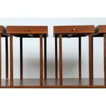 Image of Mid-Century Coffee Table With 4 Tray Tables