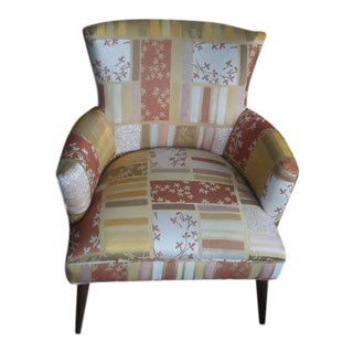 Vintage Style Floral Upholstered Chair