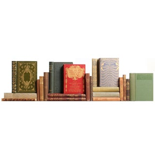 Vintage Victorian Bookshelf - Set of 21