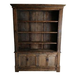 Vintage Rustic Wood Cabinet Hutch