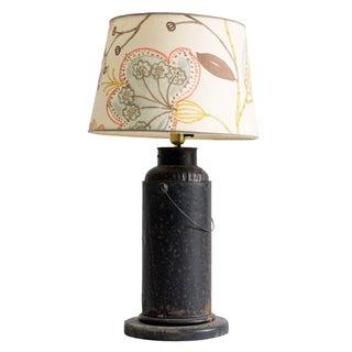Vintage Milk Container Lamp