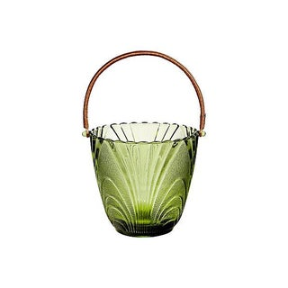 Rattan-Handled Ice Bucket