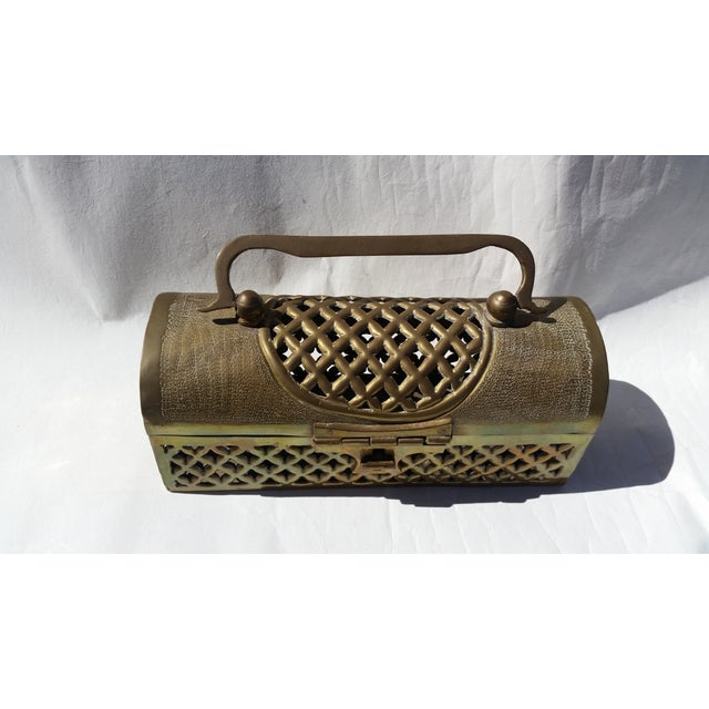 Vintage Long Brass Cricket Box - Image 3 of 5