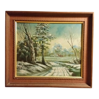 Mid-Century Signed Japanese Oil Painting