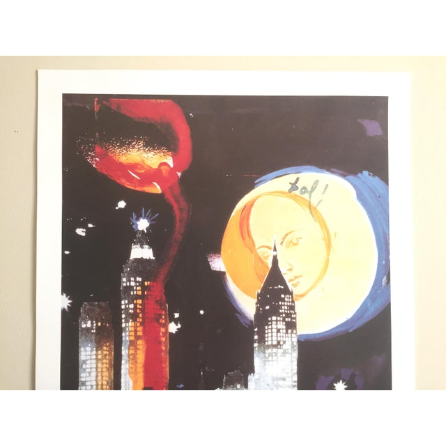 "Salvador Dali ""Manhattan Skyline Tarot the Moon"" Original Limited Edition Lithograph - Image 3 of 8"