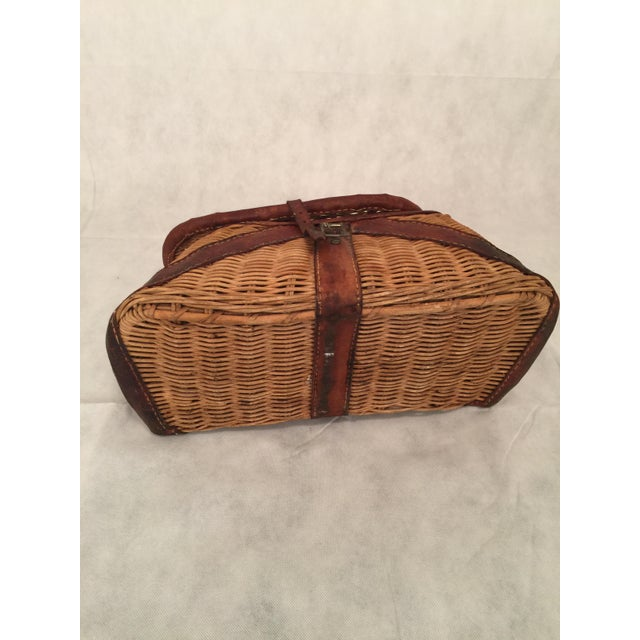 Antique Woven Creel Basket - Image 2 of 7