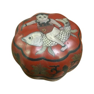 Red Chinese Lacquered Box