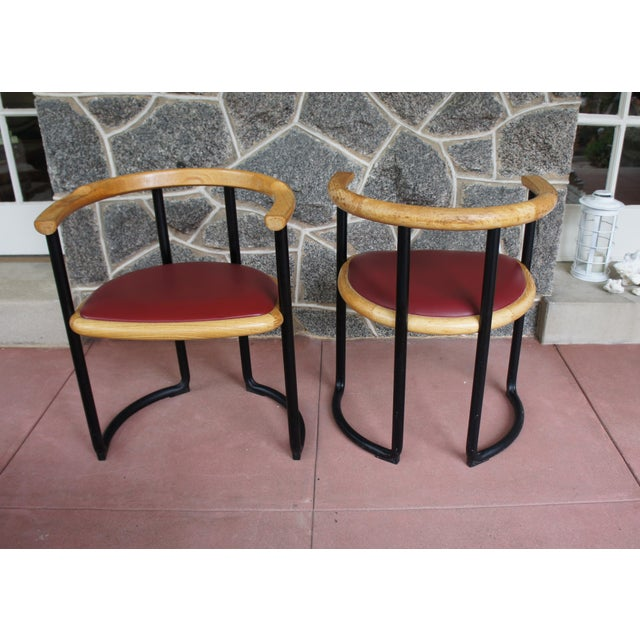 Ycami Collection Barrel Dining Chairs - Set of 6 - Image 6 of 11