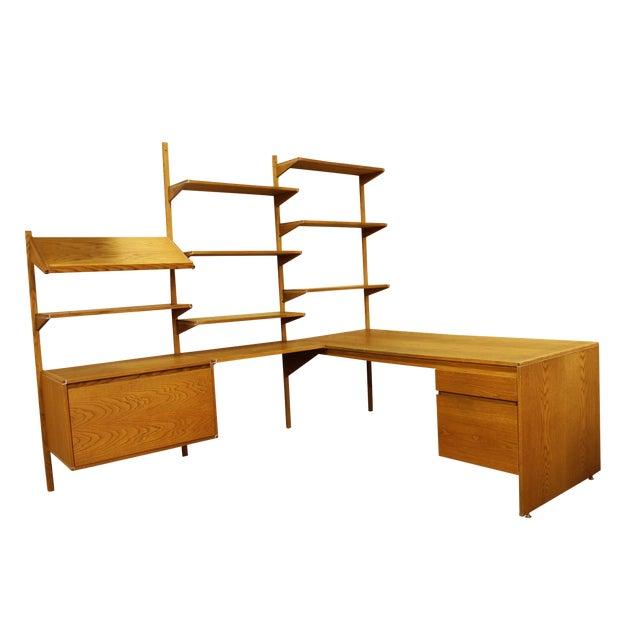 barzilay corner shelving unit desk chairish. Black Bedroom Furniture Sets. Home Design Ideas