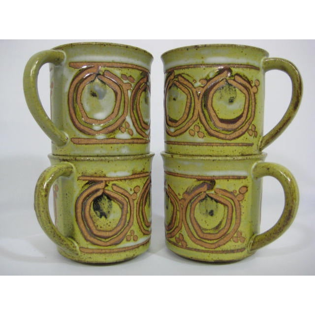 Vintage Stoneware Mugs - Set of 4 - Image 3 of 7