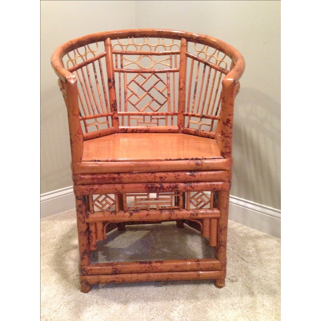 Chinese Chippendale Style Bamboo Chair - Image 2 of 8