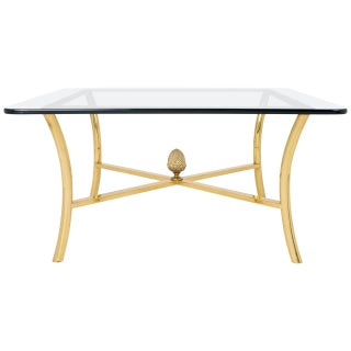 Vintage Maison Raphael Gilt Brass Coffee Table