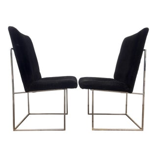 Milo Baughman Chrome Chairs - A Pair