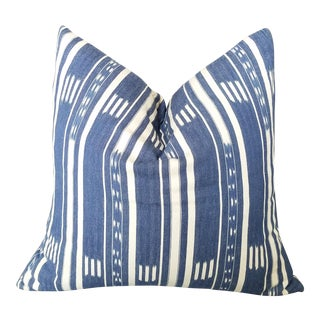 African Baule Ikat Pillow