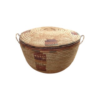 Large Hand Woven African Basket