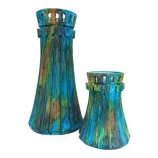 Bitossi Raymor Alvino Bagni Sea Garden Vases - A Pair