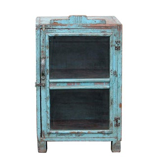 Pale Turquoise Glass Cabinet
