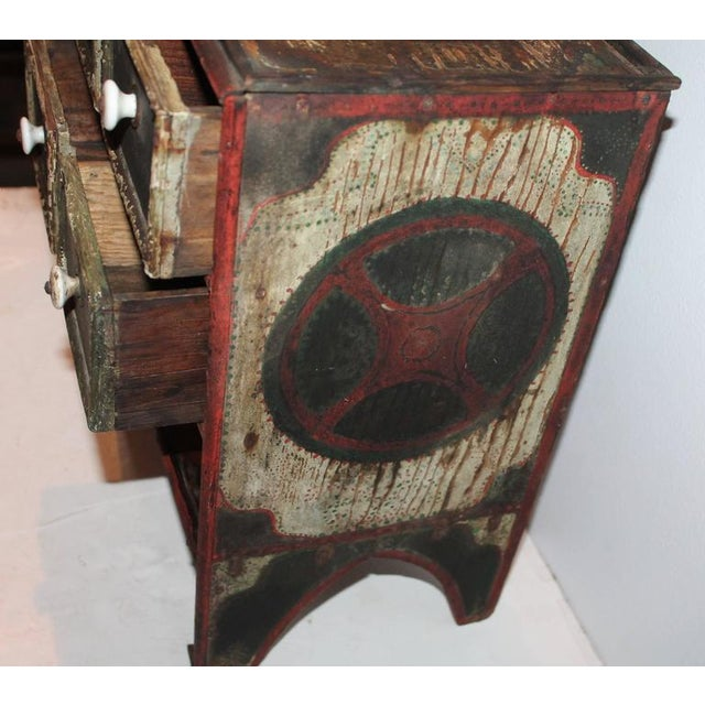 19th Century Original Paint Decorated Tabletop Apothecary Cabinet - Image 7 of 8